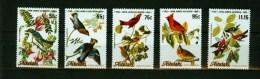 Aitutaki 1985,5V,compl.set,audubon,birds, Vogels,vögel,oiseaux,paja Ros,aves, MNH/Postfris(D1803) - Sin Clasificación