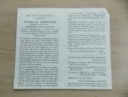 Doodsprentje Rosalia Hermans Merksem 17/1/1897 Nieuwpoort 31/10/1963 ( Edmond Delanghe) - Religion & Esotérisme