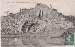 LEGE (L I) 9 GROTTE DE NOTRE DAME DE LOURDES  1908 - Legé
