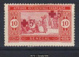 09579 Sénégal CROIX-ROUGE YT 70 * (adhérences Noires Au Verso) DOUBLE SURCHARGE - Sénégal (1960-...)