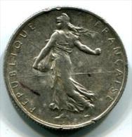 PIECE EN ARGENT DE 2 FRANCS SEMEUSE 1917 - O. ROTY - I. 2 Francs