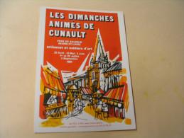 LES DIMANCHES ANIMES DE CUNAULT...PRES DE SAUMUR... - France