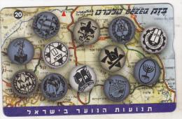 Israel Old Phonecard - 20 Units - BZ 256 - Youth Movements - Israel