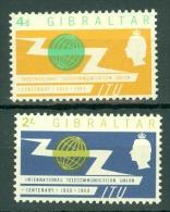 Gibraltar: 1965   I.T.U. Centenary   MH - Gibilterra