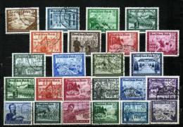 Kameradschaftsblock Reichs-Post Komplett DR 702/13, 773/8+ 888/3 O 80€ Postschutz Military Sets Of Old Germany III.Reich - Stamps