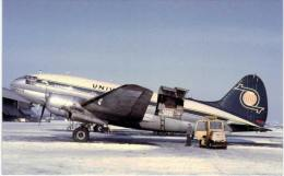Thème -  Avion - Aviationcards 94 -  Universal Airlines - Curtiss C 46 Commando - Format 8.5*13.5  Cm - - 1946-....: Moderne