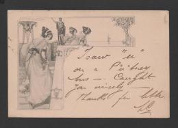 ART NOUVEAU Postcard Sg M.M. VIENNA - CONTINENTAL SERIES RAPHAEL TUCK & SONS - Tuck, Raphael