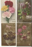 Très Beau Lots De 12 Cartes De Fleurs Avant Années20-très Bel état - Flowers, Plants & Trees