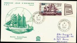 """ANTARCTIC, TAAF, KERGUELEN , 3.11.1984, FDC Michel-No. 195, """"Nordposta"""" !! - Antarctische Expedities"""