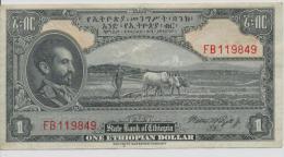 ETHIOPIA P. 12c 1 D 1945  VF - Ethiopie