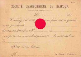Chapelle Lez Herlaimont Société Charbonnière De Bascoup 1883 - Chapelle-lez-Herlaimont