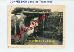 CONFESSION-TRANCHEES-PRET RE-PENITENTS-PECHES-RELIG ION-Photo Allemande-Guerre14-18-1WK -Militaria-BEICHTE- - Altri