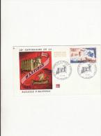 FDC-1er Jour - Marque FOS 06 -  Bataille D'Hastings -  Falaise  - 4 Juin 1966 ,dessin De Rebroin ? - 1960-1969