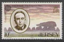 Jersey 1985 Mi 347 YT 341 ** John Ireland (1879-1962) Composer + Faldouet Dolmen / Komponist – Europa - Archeologie