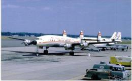 Thème -  Avion - Aviation Postcards 203 -  TWA Constellation In 1955 - Format 8.5*13.5  Cm -