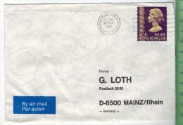 1981 Hongkong, EF Auf Brief,Brief Gelaufen, 23.Sep. 1981 Größe: 16,3 X 11,5 CmZustand: I-II (H)Wir Haben Ständig Altes C - Hong Kong (1997-...)