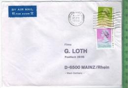 1992 Hongkong, MIF Auf Brief,Brief Gelaufen, 27. Apr. 1992 Größe: 16,3 X 11,5 CmZustand: I-II (H)Wir Haben Ständig Altes - Hong Kong (1997-...)