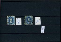Schweiz,  O, Div. Marken Auf A6-Karte - 1882-1906 Wappen, Stehende Helvetia & UPU