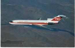 Thème -  Avion - Aviation World - TWA Trans World Airlines - Boeing 727 231A - Format 8.5*13.5  Cm - 1946-....: Moderne