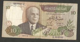 TUNISIE - BANQUE CENTRALE De TUNISIE - 10 DINARS (1986) - Tunisia