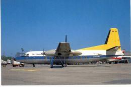 Thème -  Avion - BuchairCard 6614 - Fokker F27 Friendship - Lufthansa - Hannover 1966 - Format 8.5*13.5  Cm - 1946-....: Moderne
