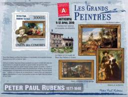 cm9320b Comores 2009 Paintings of Peter Paul Bubens s/s Ex Antverpia