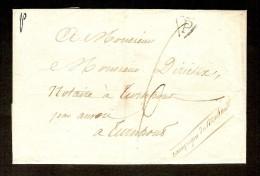 """Voorloper Verzonden Aan NOTARIS DIRICKX Te TURNHOUT Met Stempel """" P """" ZONDER Datum ! ZELDZAAM ! - 1830-1849 (Belgique Indépendante)"""