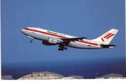 Thème -  Avion - BuchairCard 8906 - Airbus Industrie A310 203C - Martinair Holland - Gran Canaria 88 Format 8.5*13.5  Cm