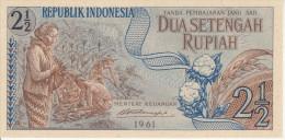 Indonesia 2.5 Rupian 1961 Pick 79 UNC - Indonésie