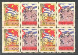 Block 4 Of North Vietnam Viet Nam MNH Stamps 1965 : 6th Anni. Of Cuba Republic / Flag ; Scott#332, CV$4.5 (Ms155) - Vietnam