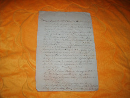 DOCUMENT ANCIEN OU LETTRE DE 1815. A IDENTIFIER. / CONSEIL D'ADMINISTRATION ASSEMBLEE PRESENT M.M. LE COMTE DE MELLET ?. - Manuscripten