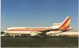 Thème -  Avion - Historical Aircraft Postcard 871 - American International L 1011 -  Format 8.5*13.5  Cm - - 1946-....: Moderne