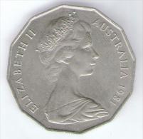 AUSTRALIA 50 CENTS 1981 - Moneta Decimale (1966-...)