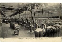 Carte Postale Ancienne Flers - Filature De La Planchette. Les Bancs à Broches - Industrie, Usine, Textile - Flers