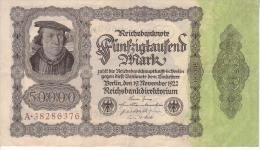 Billet De 50000 - 1922 - [ 3] 1918-1933 : Repubblica  Di Weimar