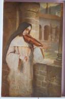 Litho Chromo Illustrateur HERMANN KAULBACH Ave Maria Soeur Nonne Et Violon N° 141 Ed Seemann - Kaulbach, Hermann