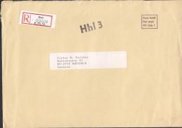 Norway Porto Betalt Port Payé Registered Einschreiben OSLO 1981 Cover Brief To Denmark Customs Douane Label (2 Scans) - Briefe U. Dokumente