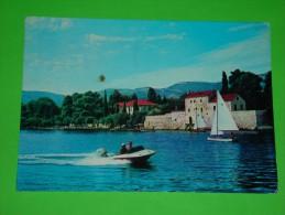 Hydro Boat,speed Boat,sailing Ship,Kastel Luksic,postcard - Barche