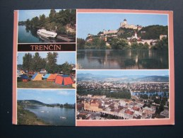 Trencin, Slovakia, Vintage C1980 Multi View Postcard - Slowakei