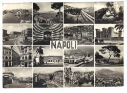 230/500 - NAPOLI , VEDUTE DIVERSE . Viaggiata Nel 1956 - Napoli