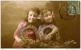 ENFANTS-2 Fillettes,Fers à Cheval - Non Classificati