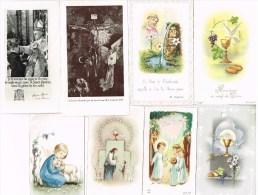 Lots De 24 Souvenirs De Communion Et De Confirmation  Des Années 1955 à 1973 - Religión & Esoterismo