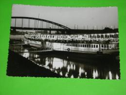 "Boat,river Passenger Boat,touristic Cruiser,Szeged,river Harbour,Hotel On The Ship""Szoke Tisza"",schiff Gasthaus,postcard - Hausboote"