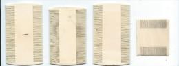 Peignes anciens /Peigne � d�crasser/ 4 pi�ces / pour  Collection/ Vall�e d'Eure/ Vers 1880-1890    PARF56