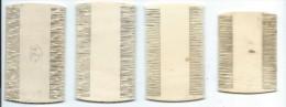 Peignes anciens /Peigne � d�crasser/ 4 pi�ces / pour  Collection/ Vall�e d�Eure/ Vers 1880-1890    PARF57