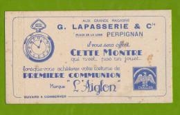 BUVARD : Aux Grands Magasins LAPASSERIE  Montre L´Aiglon A Perpignan - Kids