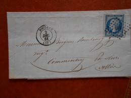 LL.24_lettre De Montbelliard Tardif!  ;variété Sur N°14 ;voir Verso! - Marcophilie (Lettres)
