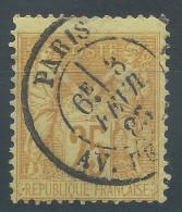 Lot N°24468   N°92, Oblit Cachet à Date De PARIS ( Av ????) - 1876-1898 Sage (Type II)