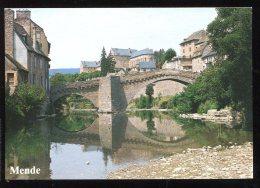 CPM  48 Mende Le Pont Notre Dame Au Dessus Du Lot ( Toilée ) - Mende