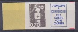 = Marianne De Briat, Dite Du Bicentenaire 0.70 + Vignette De Carnet Adhésif N°6b Neuf Ancien 2873b - Adhesive Stamps